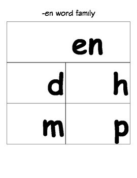 Word Family Flip Books and Assessment Pages