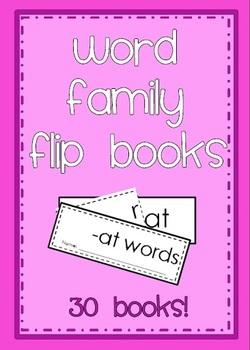 Word Family Flip Books - 30 books
