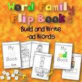 Free Word Family Flip Books - Build and Write -ad words