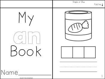 Word Family Flip Books - Build and Write {-at, -an, -ap}