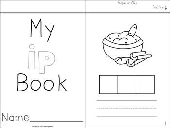 Word Family Flip Books - Build and Write {-in, -ig, -ip}