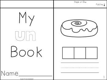 Word Family Flip Books - Build and Write {-un, -ug, -ub}