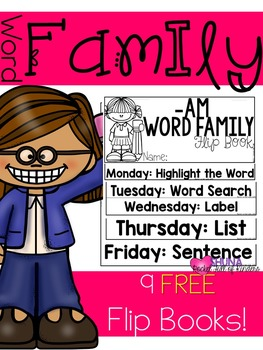 Word Family Flip Books {Freebie}