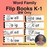 Rhyming Word Family Flip Books Assortment Grades K-1 BW ONLY