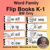 Rhyming Word Family Flip Books Assortment Grades K-1 BW ONLY