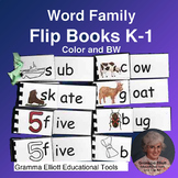 Rhyming Word Family Flip Books Grades K-1 COLOR AND BW