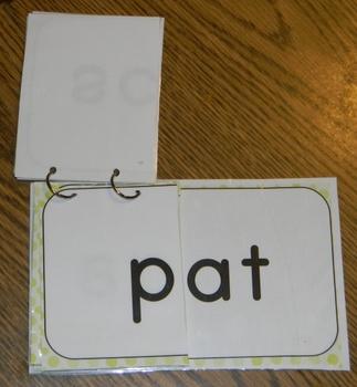 Word Family Flip Books -Polka Dot- Lime Green