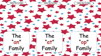 Word Family Flip Books with pictures