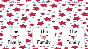 Word Family Flip Books with pictures #2