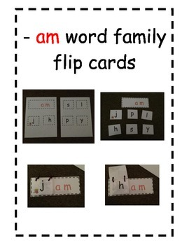 Word Family Flip Cards -am