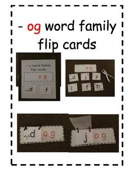 Word Family Flip Cards -og