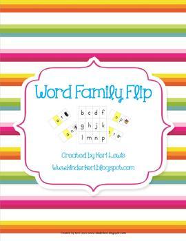 Word Family Flip Game