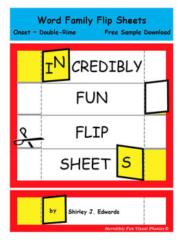 Word Family Flip Sheets - Set 1