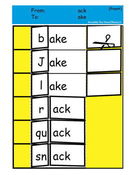 Word Family Flip Sheets - Set 3