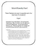 Word Family Flipbook
