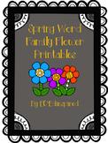 Word Family Flower Printables