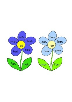 Word Family Flowers
