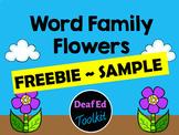Word Family Flowers- Rhyming FREEBIE Sample