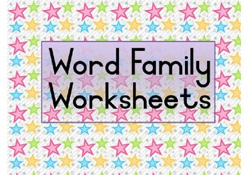Word Family Flowers Worksheets