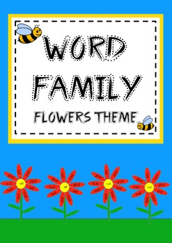 Word Family Flowers - onset and rime activity