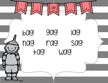 Word Family Fluency Mats