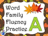 Word Family Fluency Practice (Letter A)