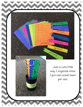 Word Family Fluency Strips-Short 'a' words
