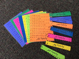 Word Family Fluency Strips-All 5 Short Vowel Families