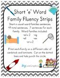Word Family Fluency Strips-Short 'e' Words