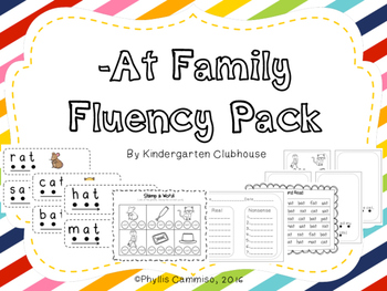 Word Family Fluency: -at family