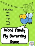Word Family Fly Swatting Game