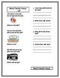 Word Family Focus to Increase Decoding Skills: __all & __an  Worksheets