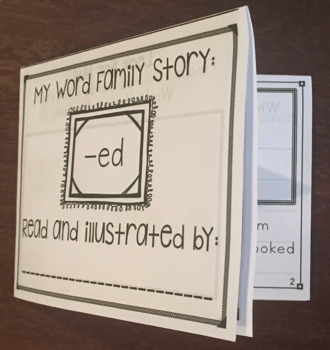 Word Family Reading and Activity Booklets