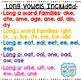 Word Family Foldables {Long Vowel Word Families}
