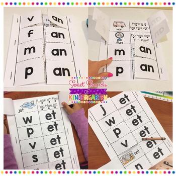 Word Family Foldables {Short Vowel CVC Word Families}