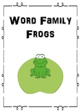 Word Family Frogs