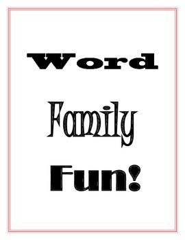 Writing Word Families