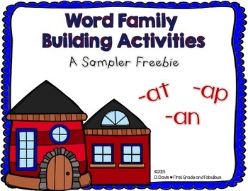 Word Family Fun--A Freebie Sampler