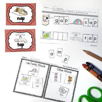 Word Families Worksheets Bundle