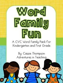 Word Family Fun- CVC Printables
