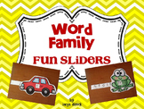 Word Family Fun Sliders Literacy Activity