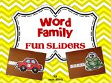 Word Family Fun Sliders Literacy Activity