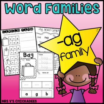 Word Family Fun: -ag family {Teach Word Families & Strengt