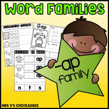 Word Family Fun: -ap family {Teach Word Families & Strengt