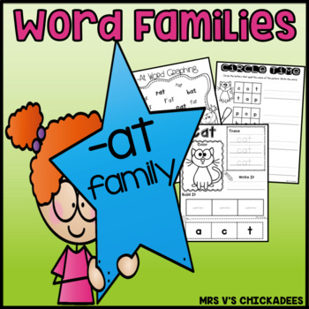 Word Family Fun: -at family {Teach Word Families & Strengt