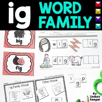 Word Family Fun! -ig Family