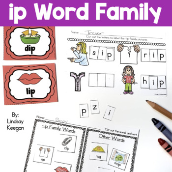 Word Family Fun! -ip Family