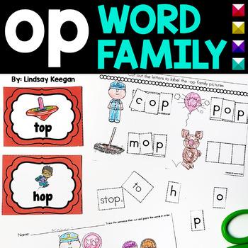 Word Family Fun! -op Family