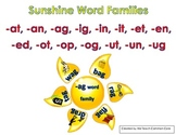 Word Family Fun with Suns Literacy Center Activity Common Core