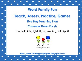 Word Families for  /i/    Assess, Practice, Games